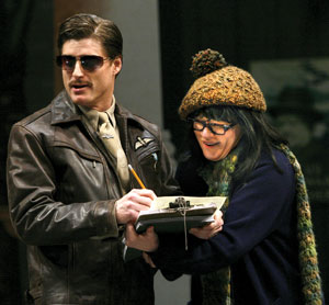 Sean Allan Krill and Nancy Voigts in The Comedy of Errors