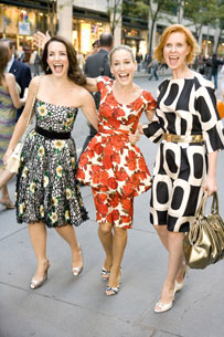 Kristin Davis, Sarah Jessica Parker,and Cynthia Nixon in Sex and the City