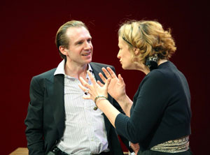 Ralph Fiennes and Janet McTeer in God of Carnage