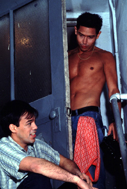 (L-R) Orlando Pabotoy and Anthony Ruivivar in Watcher (Photo: Nigel Teare)