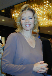 Jean Smart at the2001 Tony Nominees' brunch(Photo: Michael Portantiere)