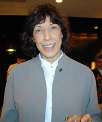 Lily Tomlin at the2001 Tony Nominees' brunch(Photo: Michael Portantiere)