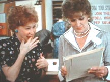Dody Goodman and Eve Arden in the film Grease