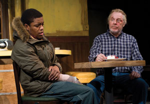 Jon Michael Hill and Michael McKean in Superior Donuts