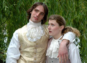 Ryan Higgins and Nicole Vernon in Twelfth Night