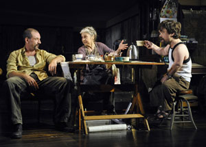 Richie Coster, Lynn Cohen, and Peter Dinklage