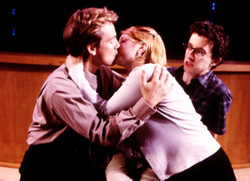 Jeff Juday, Meredith Zeitlin,and  Michael Raine in I Sing!(Photo: Carol Rosegg)
