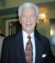 Eddie Bracken at the opening night partyfor Paper Mill's Carousel(Photo: Michael Portantiere)