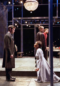 Billy Crudup, Sanaa Lathan, John Pankow,and Christopher Donahue in Measure for Measure(Photo: Michael Daniel)
