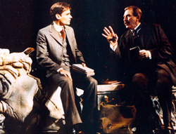 Robert Sean Leonard and Richard Eastonin The Invention of Love(Photo: Paul Kolnik)
