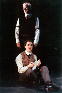 Keith Baxter (standing) and Jared Reedin The Woman in Black(Photo: Craig Schwartz)