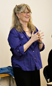 Judith Ivey in rehearsal for Vanities (© Chris Owyoung)