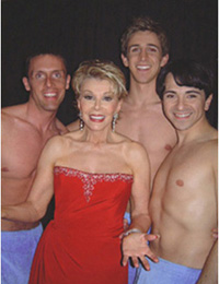 Naked Boys Craig Rehnke, Billy Briggs,and Luis Villabon with Joan Riversat the Fragrance Foundation?s Fifi Awards(Photo: H.E. Yhoman)