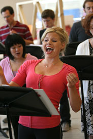 Megan Hilty in rehearsal