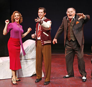 Janine LaManna, Josh Grisetti, and George S. Irving