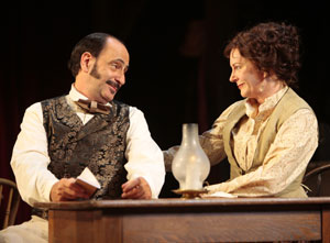 Will LeBow and Mary Beth Fisher in How Shakespeare Won the West (© T Charles Erickson)