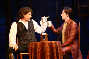 James Barbour and Aaron Lazar in A Tale of Two Cities (© Carol Rosegg)