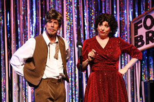 Michael West and Gina Kreiezmar in Forbidden Broadway Goes to Rehab (© Carol Rosegg)