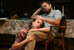 Elizabeth Marvel and Norbert Leo Butz in Fifty Words