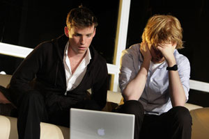 Eddie Redmayne and Domnhall Gleeson in Now or Later