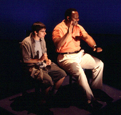 Keith Nobbs (l) and Isiah Whitlock, Jr. in Four(Photo: Christopher Shinn)