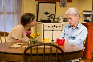 Fiona Gallagher and Judith Roberts in Close Ties (© Zack Brown)