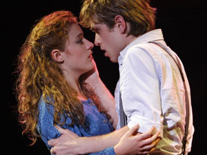 Christy Altomare and Kyle Riabko in Spring Awakening