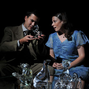 Brad Roller and Katherine Michelle Tanner in The Glass Menagerie