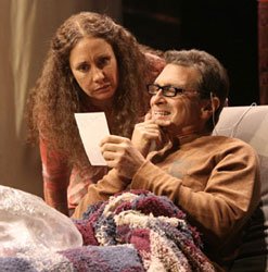 Laurie Metcalf and Dennis Boutsikaris in the