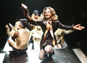 Nathan Lee Graham and company in Wig Out!