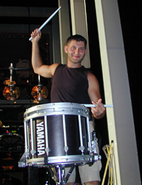 Drummer boy Nick Angelis(Photo: Michael Portantiere)