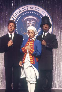 Michael West, Whitney Allen,and Eric Jordan Young in Mr. President(Photo: Carol Rosegg)