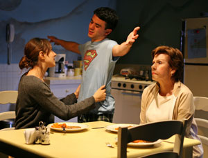 Natalie Gold, Gio Perez, and Maggie Burke in The Language of Trees (© Joan Marcus)