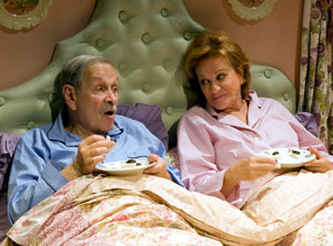 Larry Keith and Cynthia Harris in Bedroom Farce