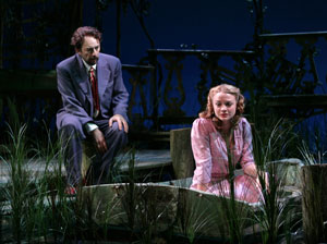 Richard Schiff and Margot White in Talley's Folly