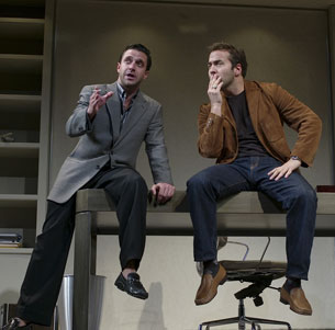 Raul Esparza and Jeremy Piven in Speed-the-Plow