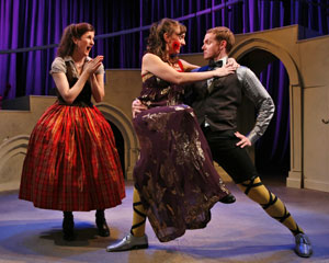 Tina Stafford, Laura Shoop, and Jimmy Ray Bennett in Illyria