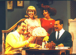 Anthony De Santis, Alice Vaughn, Erin McLaughlin,and Dean Fortunato in Down South(Photo: Carol Rosegg)