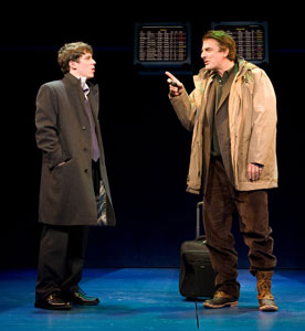 John Gallagher, Jr. and Chris Noth in Farragut North