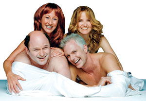 Vicki Lewis,  Lea Thompson, Jason Alexander,