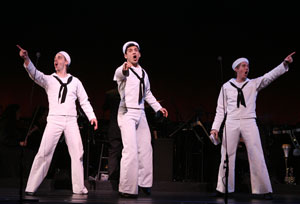 Christian Borle, Tony Yazbeck, and Justin Bohon