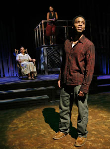 Kevin T. Carroll, January LaVoy,and Tracey Bonner in Home