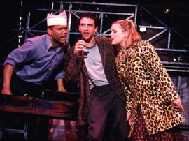 Jerry Dixon, Raúl Esparza, and Amy Spangerin Jonathan Larson's tick...tick...BOOM!(Photo: Joan Marcus)