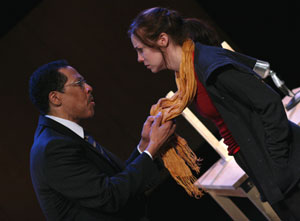 Peter Jay Fernandez and Laura Heisler