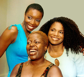 Heather Headley, Lillias White, and Audra McDonaldat the Dreamgirls press preview(Photo: Joan Marcus)