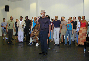 Billy Porter and company performing ?Steppin? to the Bad Side?(Photo: Michael Portantiere)