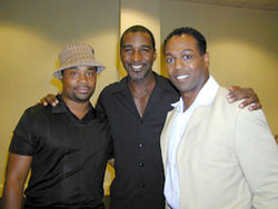 Billy Porter, Norm Lewis, and James Stovallat a press preview of Dreamgirls(Photo: Michael Portantiere)