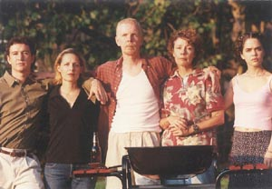 Peyton Thomas, Elizabeth Elkins, Leo Farley, Barbara Myers,and Moira MacDonald in The Last Barbecue(Photo: G. Alexander)