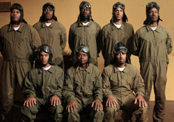 The cast of Black Angels Over Tuskegee