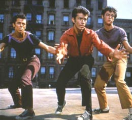 A scene from the prologue of West Side Story